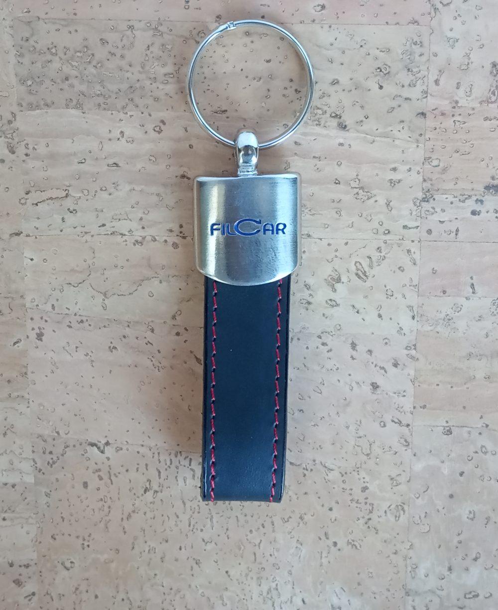 porta-chaves pele genuína